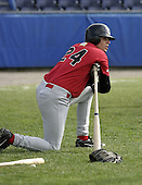 June 19, 2004:  Shorstop Jon Fulton of the Jamestown Jammers, Single-A NY-Penn League affiliate of the Florida Marlins, during a game at Dwyer Stadium in Batavia, NY.  Photo by:  Mike Janes/Four Seam Images