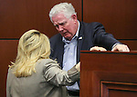 Nevada Assembly Speaker John Hambrick talks with Assemblywoman Michele Fiore, both R-Las Vegas, on the Assembly floor at the Legislative Building in Carson City, Nev., on Sunday, May 31, 2015.  <br /> Photo by Cathleen Allison