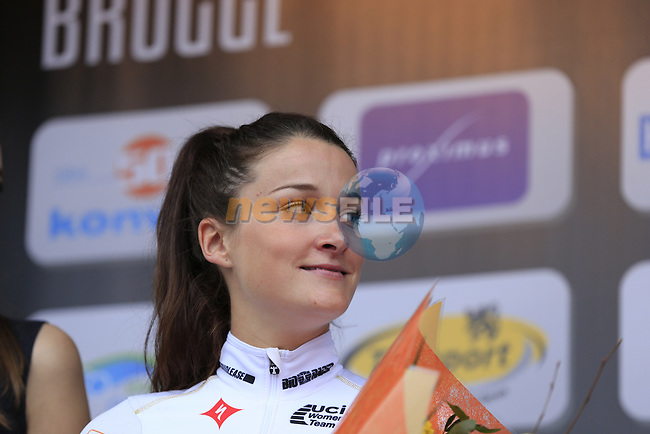 Elizabeth Armitstead (GBR) Boels Dolmans finishes in 2nd place at the end of the 2014 Women's Tour of Flanders, Oudenaarde, Belgium.<br /> Picture: Eoin Clarke www.newsfile.ie