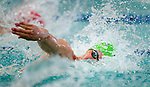 Cottonwood's Jordan Dahle competes in the 100 yard free race during the 53rd annual Country Club Swimming Championships on Monday, Aug. 6, 2012, in Kearns, Utah. (© 2012 Douglas C. Pizac)