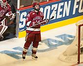 Cameron Gornet (Harvard - 32), Alexander Kerfoot (Harvard - 14) - The University of Minnesota Duluth Bulldogs defeated the Harvard University Crimson 2-1 in their Frozen Four semi-final on April 6, 2017, at the United Center in Chicago, Illinois.