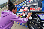 Sep 9, 2011; 11:24:14 AM; Rossburg, OH., USA; The 41st annual running of the World 100 Dirt Late Models racing for the Globe trophy at the Eldora Speedway.  Mandatory Credit: (thesportswire.net)