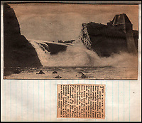 BNPS.co.uk (01202 558833)<br /> Pic: IAA/BNPS<br /> <br /> Flt Sgt Sumpter's scrapbook.<br /> <br /> A rare, signed menu for a slap-up dinner for the heroic Dam Busters crew after the famous wartime raid is tipped to sell for £7,500.<br /> <br /> The celebratory meal was held to mark the decorations awarded that day at Buckingham Palace to the survivors of Operation Chastise.<br /> <br /> The do was at the Hungaria Restaurant on London's Regent Street and was attended by crew members including Victoria Cross winner Guy Gibson. <br /> <br /> The men feasted on crab cocktail to start, stuffed duck with minted peas and new potatoes for mains and strawberries in maraschino liquor for dessert.
