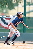 Alejandro Sanchez of the Gulf Coast League Braves during the game against the Gulf Coast League Tigers July 3 2010 at the Disney Wide World of Sports in Orlando, Florida.  Photo By Scott Jontes/Four Seam Images