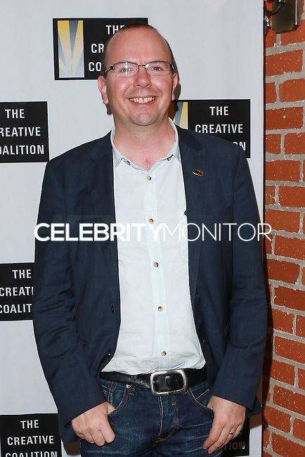 LOS ANGELES, CA, USA - OCTOBER 21: Col Needham arrives at The Creative Coalition's 'Art of Discovery' Los Angeles Launch Party held at the Home of Lawrence Bender on October 21, 2014 in Los Angeles, California, United States. (Photo by David Acosta/Celebrity Monitor)