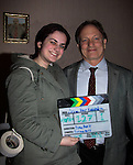 Guiding Light's Justin Deas poses with makeup artist Rosie Sklar as Justin stars in the movie Price for Freedom which tells the story of an Iranian Jew who worked to counter oppression after the 1979 Islamic Revolution was shot in Orange County and Italy and premieres May 29, 2015 at the Hoboken Film Festival, Middletown, NY.  (Photo by Sue Coflin/Max Photos)