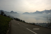 Lake and mountains St?tter See Beckenried Luzern area, Switzerland.