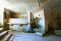 Interior of an ancient cave dwelling, known as a ? Sassi ? , in Matera, Southern Italy. A UNESCO World Heritage Site.