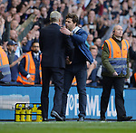 Tottenham Hotspur manager Mauricio Pochettino and Arsene Wenger manager of Arsenal at the end of the match. English Premier League match at the White Hart Lane Stadium, London. Picture date: April 30th, 2017.Pic credit should read: Robin Parker/Sportimage