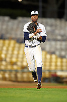 Pitt Panthers third baseman Ron Sherman (18) during a game against the Ohio State Buckeyes on February 20, 2016 at Holman Stadium at Historic Dodgertown in Vero Beach, Florida.  Ohio State defeated Pitt 11-8 in thirteen innings.  (Mike Janes/Four Seam Images)