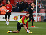 Billy Sharp of Sheffield Utd warms up during the Championship match at Bramall Lane Stadium, Sheffield. Picture date 30th December 2017. Picture credit should read: Simon Bellis/Sportimage