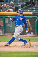 Christian Villanueva (16) of the Iowa Cubs at bat against the Salt Lake Bees in Pacific Coast League action at Smith's Ballpark on August 21, 2015 in Salt Lake City, Utah. The Bees defeated the Cubs 12-8. (Stephen Smith/Four Seam Images)