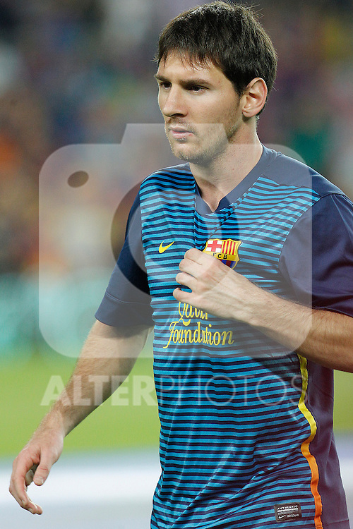 Barcelona's Lionel Messi  during la Liga match on october 7th 2012. ..Photo: Cesar Cebola  / ALFAQUI