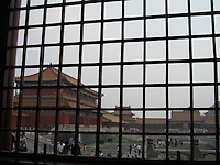 Window overlooking Forbidden City, Beijing, China