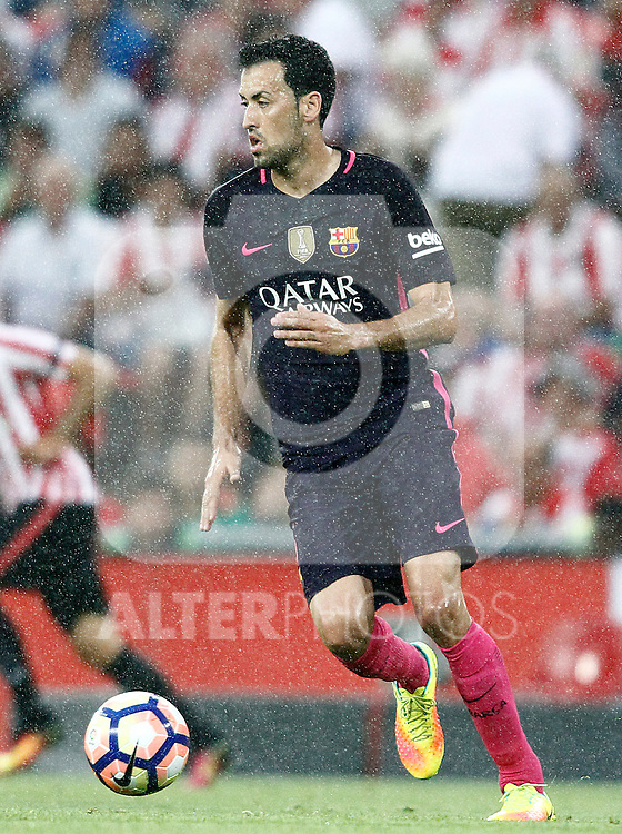 FC Barcelona's Sergio Busquets during La Liga match. August 28,2016. (ALTERPHOTOS/Acero)