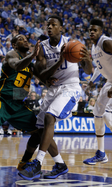 Pierre Jackson guards Archie Goodwin during the second half of the game between the University of Kentucky and Baylor University, on Saturday, Dec. 1, 2012 at Rupp Arena, in Lexington, Ky. Baylor won 64-55. Photo by Latara Appleby | Staff