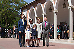 King Juan Carlos I of Spain, Queen Sofia of Spain, King Felipe VI of Spain, Princess Leonor of Spain, Princess Sofia of Spain and Queen Letizia of Spain pose at the Asuncion de Nuestra Senora Church after celebrating the First Communion of the Princess Leonor of Spain in Madrid, Spain. May 20, 2015. (ALTERPHOTOS/Victor Blanco)