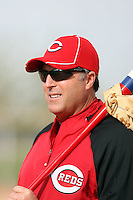 Bryan Price. Cincinnati Reds spring training workouts at the Reds new complex, Goodyear, AZ - 02/19/2010. Price is in his first year as pitching coach of the Reds..Photo by:  Bill Mitchell/Four Seam Images.