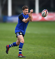 Alex Davies of Bath United in action during the pre-match warm-up. Premiership Rugby Shield match, between Bath United and Gloucester United on April 8, 2019 at the Recreation Ground in Bath, England. Photo by: Patrick Khachfe / Onside Images