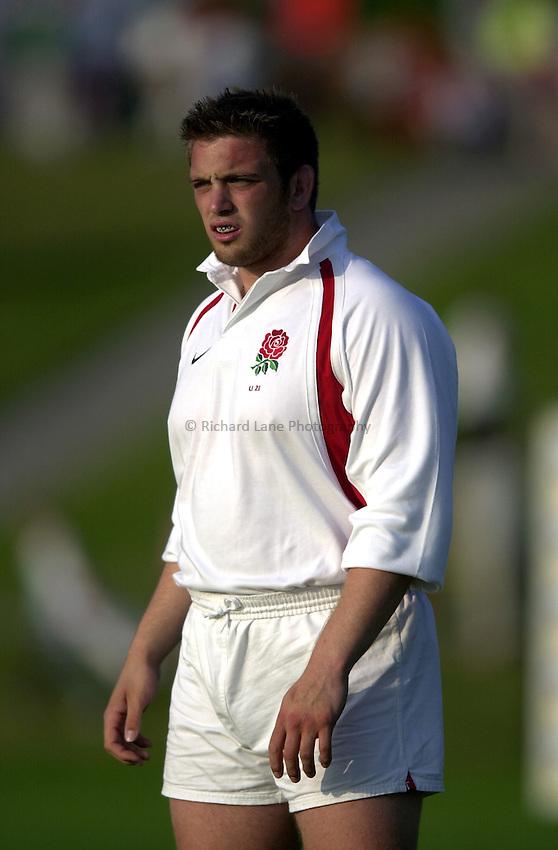 Photo: Richard Lane..Japan U21 v England U21. IRB Under U21 Rugby World Cup 2003 at Newbury RFC. 17/06/2003..Aston Croall.