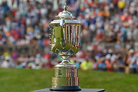 The Wannamaker Trophy awaits Brooks Koepka (USA) as the winner of the 100th PGA Championship at Bellerive Country Club, St. Louis, Missouri. 8/12/2018.<br /> Picture: Golffile | Ken Murray<br /> <br /> All photo usage must carry mandatory copyright credit (&copy; Golffile | Ken Murray)