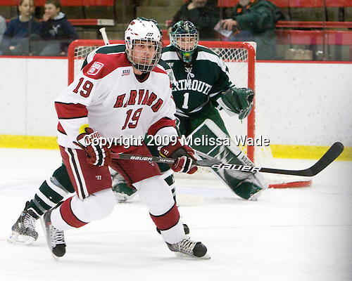 Alex Killorn (Harvard - 19) - The Harvard University Crimson defeated the Dartmouth College Big Green 4-1 (EN) on Monday, January 18, 2010, at Bright Hockey Center in Cambridge, Massachusetts.