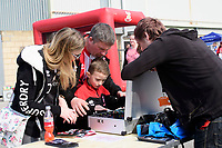Lincoln City fans enjoy the pre-match atmosphere in the fan zone<br /> <br /> Photographer Chris Vaughan/CameraSport<br /> <br /> The EFL Sky Bet League Two - Lincoln City v Macclesfield Town - Saturday 30th March 2019 - Sincil Bank - Lincoln<br /> <br /> World Copyright © 2019 CameraSport. All rights reserved. 43 Linden Ave. Countesthorpe. Leicester. England. LE8 5PG - Tel: +44 (0) 116 277 4147 - admin@camerasport.com - www.camerasport.com