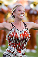30 September 2006: A twirler in the Longhorn Band performs on the field before the Longhorns 56-3 victory over the Sam Houston State Bearkats at Darrell K Royal Memorial Stadium in Austin, TX.