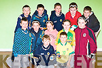 HANBALLERS: Young handballer who played in the Cumann Na Mbun Scoil County Final Handball competition on Friday evening in the Sport and Lesture Centre, Tralee. Front l-r: Fionn O'Regan (An Ghaeltacht) and  Darragh Keane(Ballymacelligott). Centre l-r: Donal O'Neill (Glenbeigh), Keelan Brosnan (Ballymacelligott), Ciara Griffin (An Ghaeltacht) and Michaela O'Donoghue (Ballymacelligott) and  Jade Crean(Moyderwell). Back l-r: Jerry Cronin (Gneeveguilla), Sean Garvey, Sean Bambury, Neil Crowley and PJ Hand (An Ghaeltacht).......