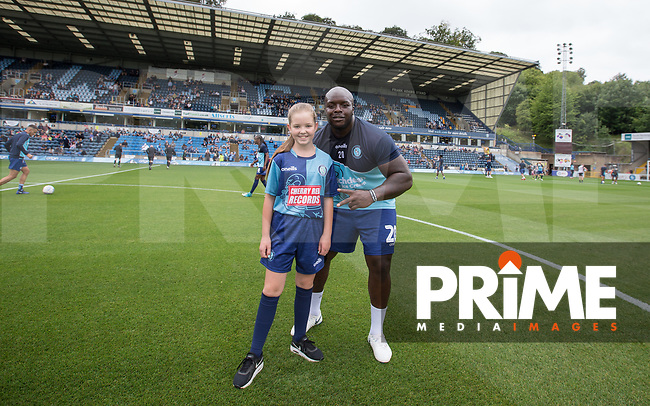 Matchday mascots pre match during the Sky Bet League 1 match between Wycombe Wanderers and Bristol Rovers at Adams Park, High Wycombe, England on 18 August 2018. Photo by Andy Rowland.