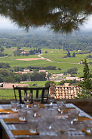 restaurant terrace restaurant verger des papes chateauneuf du pape rhone france