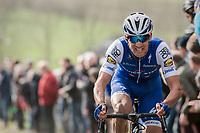 Zdenek Stybar (CZE/QuickStep Floors) on top of the Paterberg<br /> <br /> 72nd Dwars Door Vlaanderen (1.UWT)<br /> 1day race: Roeselare &rsaquo; Waregem BEL (203.4km)