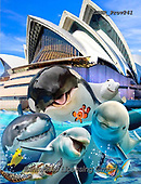 Howard, REALISTIC ANIMALS, REALISTISCHE TIERE, ANIMALES REALISTICOS, selfies,shark,dolphins,turtels,sydney,opera house, paintings+++++,GBHRPROV241,#a#, EVERYDAY
