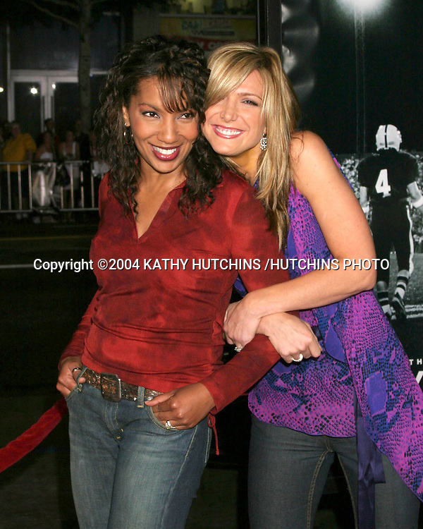 "©2004 KATHY HUTCHINS /HUTCHINS PHOTO.""FRIDAY NIGHT LIGHTS"" PREMIERE.Los Angeles, CA.OCTOBER 6, 2004..ARTHEL NEVILLE.DEBBIE MANTENOPOULOS"