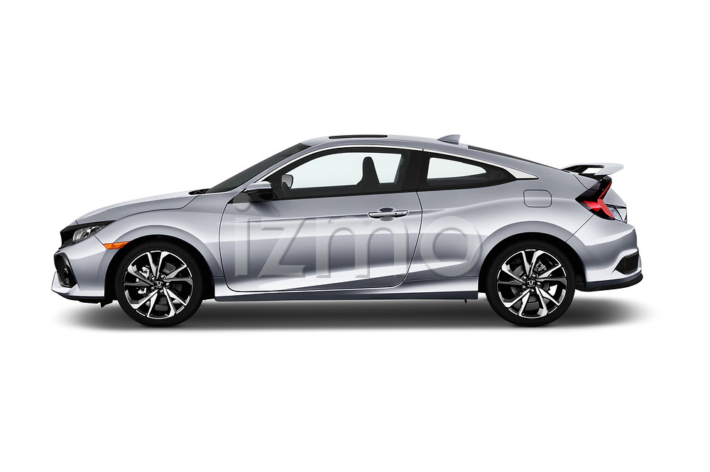 Car driver side profile view of a 2017 Honda Civic Si 2 Door Coupe