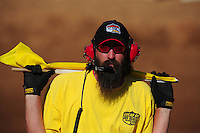 Apr 16, 2011; Surprise, AZ USA; LOORRS flagman offical during round 3 at Speedworld Off Road Park. Mandatory Credit: Mark J. Rebilas-
