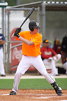 Brandon Elmy, #93 of Riverview High School, Florida playing for Florida Burn Team the during the WWBA World Championship 2013 at the Roger Dean Complex on October 24, 2013 in Jupiter, Florida. (Stacy Jo Grant/Four Seam Images)