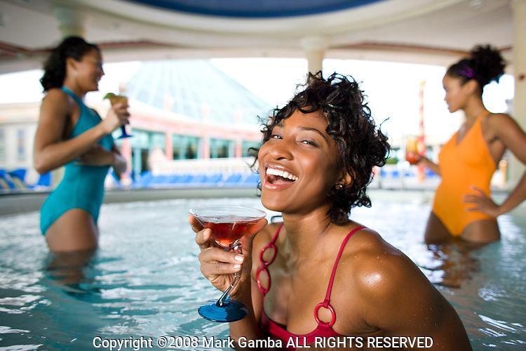 Women in hot tub on Royal Caribbean Cruise ship.