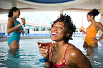 Women in hot tub on Royal Caribbean Cruise ship.