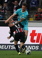 Sebastian Rode (Eintracht Frankfurt) gegen Wout Weghorst (VfL Wolfsburg) - 23.11.2019: Eintracht Frankfurt vs. VfL Wolfsburg, Commerzbank Arena, 12. Spieltag<br /> DISCLAIMER: DFL regulations prohibit any use of photographs as image sequences and/or quasi-video.
