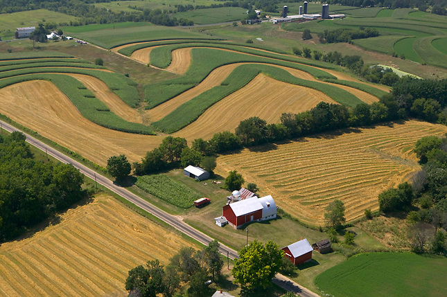 Contour farming in Wisconsin
