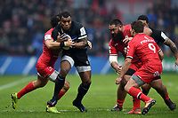 Semesa Rokoduguni of Bath Rugby takes on the Toulouse defence. Heineken Champions Cup match, between Stade Toulousain and Bath Rugby on January 20, 2019 at the Stade Ernest Wallon in Toulouse, France. Photo by: Patrick Khachfe / Onside Images
