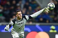 6th November 2019, Milan, Italy; UEFA Champions League football, Atalanta versus Manchester City;   Pierluigi Gollini goalkeeper of Atalanta distributes the ball after a save