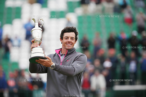 Rory McIlroy (NIR), JULY 20, 2014 - Golf : Rory McIlroy of Northern Ireland celebrates as he holds the Claret Jug after winning the 143rd British Open Championship at Royal Liverpool Golf Club in Hoylake, England. (Photo by Koji Aoki/AFLO SPORT) [0008]