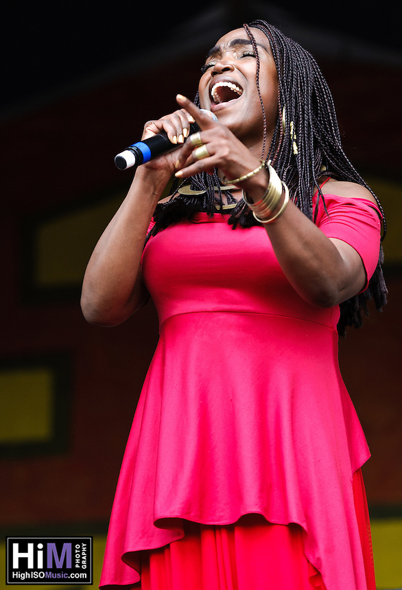 Emeline Michel of Haiti's set at Jazz Fest 2011 in New Orleans, LA on day 2.