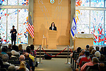 PEMBROKE PINES, FL - OCTORBER 23: Michael Kimmelman deputy Organization Director speak at Century Pines Jewish Center before Former President Bill Clinton three stop as part of his South Florida bus tour on Sunday October 23, 2016 in Pembroke Pines, Florida. ( Photo by Johnny Louis / jlnphotography.com )