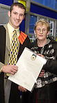Ian Quinn, Stabannon pictured with his Mother Rosaleen at the Dundalk Institute of Technology Annual Conferring.