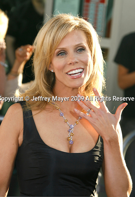 "HOLLYWOOD, CA. - July 16: Cheryl Hines arrives at the Los Angeles premiere of ""The Ugly Truth"" held at the Pacific's Cinerama Dome on July 16, 2009 in Hollywood, California."