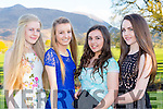 Shannon Foster, Karis Koschan, Eimear Beazley and Orlaith o'Connor Muckross at the Beaufort Youth Club Ball in aid of the Donal Walsh foundation in the Dunloe Castle Hotel on Friday night