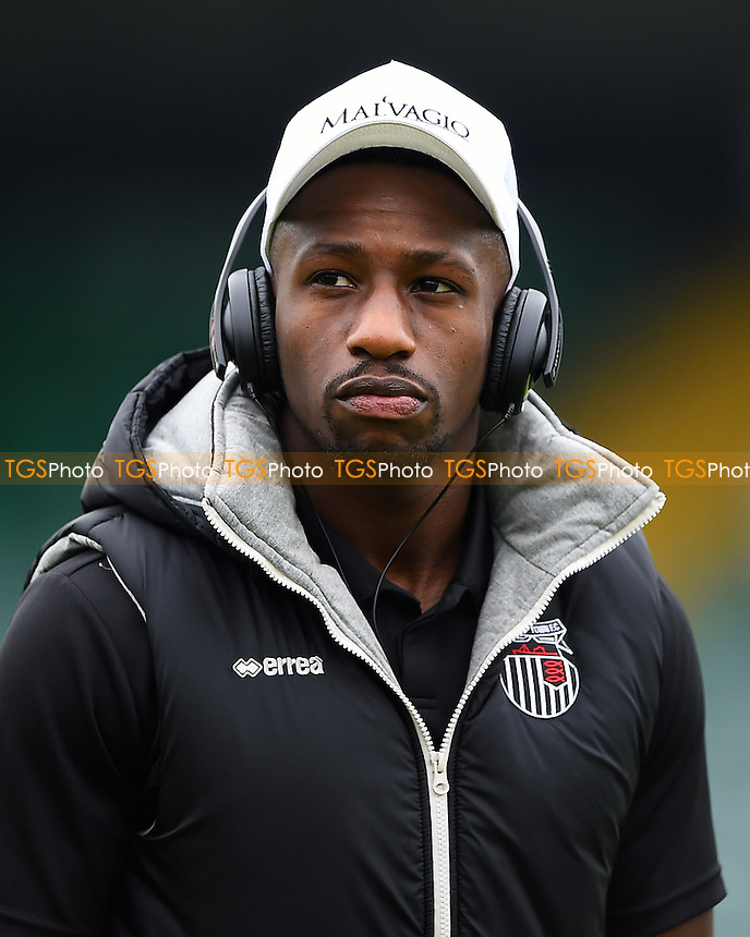 Omar Bogle of Grimsby Town during Yeovil Town vs Grimsby Town, Sky Bet EFL League 2 Football at Huish Park on 29th October 2016